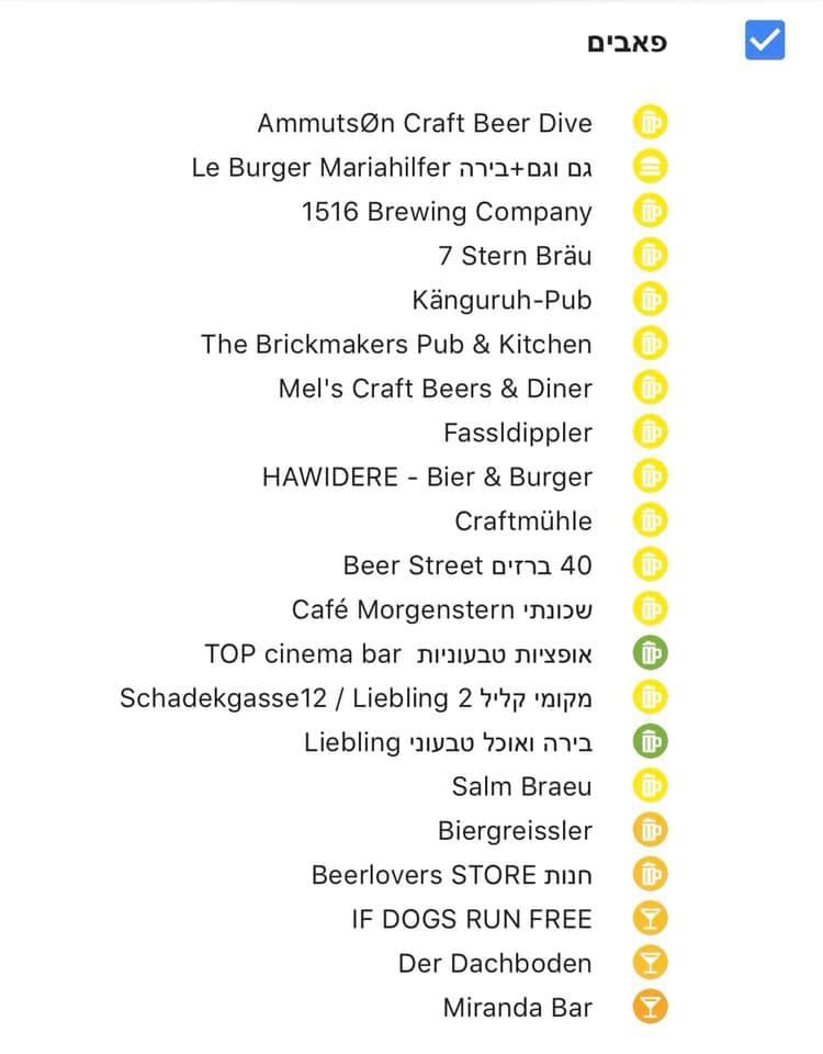 רשימת פאבים מהמומלץ ביותר שנמצא בראש , בירות קראפט, מבשלות ועוד